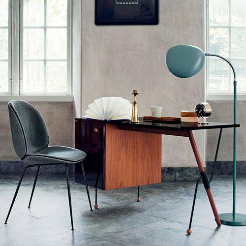 Habitación diseñada con muebles industriales