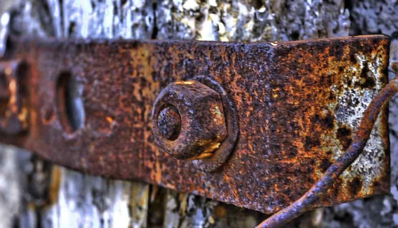 Efecto del óxido en el hierro